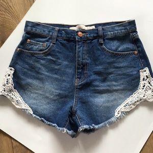 Zara Trafaluc Premium Wash Collection Jean Shorts